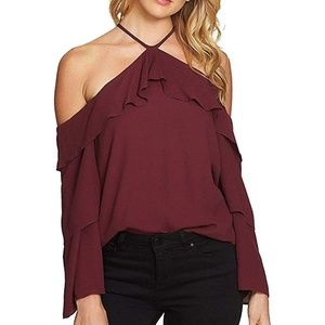 1.State NEW Women's Off-The-Shoulder Halter Blouse